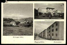 Zagyvapálfalva Az üveggyár látképe. Tisztviselői l... | Képcsarnok | Hungaricana Polaroid Film, Retro, Retro Illustration