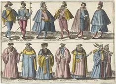 Kleding van verschillende standen volgens de Franse mode rond 1580   Abraham de Bruyn   1581   Rijksmuseum   Public Domain Marked