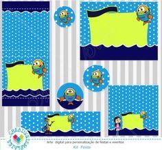 Kit festa digital Peixonauta Printable party Fishtronaut
