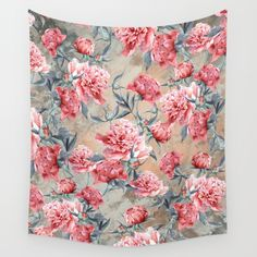 Peony II Wall Tapestry #peony #floral #home #art
