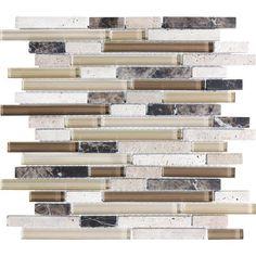 Sassi Portabella Glass Blend Linear Strips 12 126 Home