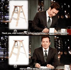 12 Hilarious Things To Be Thankful For According To Jimmy Fallon. Ressurrecting this lost art, one sassy response at a time. ---------------------------------------------------------Ha ha like a step father Make Em Laugh, I Love To Laugh, Laugh Out Loud, Funny Cute, The Funny, Hilarious, Funny Thank You, Corny Jokes, Jimmy Fallon
