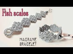 Macrame bracelet tutorial: The fish scales- Simple and elegant macrame pattern - YouTube