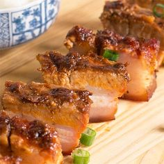 Spicy Asian-style Barbecued Pork Belly Print Prep time 10 mins Cook time 50 mins Total time 1 hour In my Saturday mornin Tom Yum Paste, Pork Belly Recipes, Bacon Recipes, Asian Grocery, Pork Dishes, Learn To Cook, Asian Style, Have Time, Barbecue