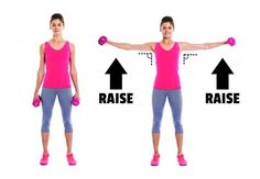 Get Rid Of Back Fat And Bra Bulge - Dumbbell Lateral Raises