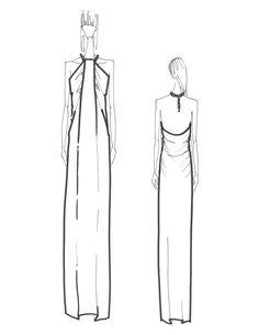 rachelzoe:  Maxi Dress Sketch- Resort 2015 Collection