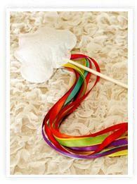 Une jolie baguette arc-en-ciel simple à réaliser et qui devrait faire plaisir aux invitées !