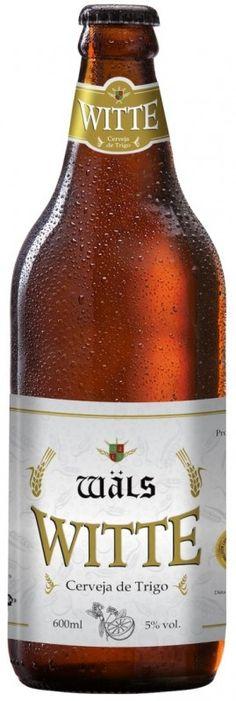 Cerveja Wäls Witte, estilo Witbier, produzida por Cervejaria Wäls, Brasil. 5% ABV de álcool.