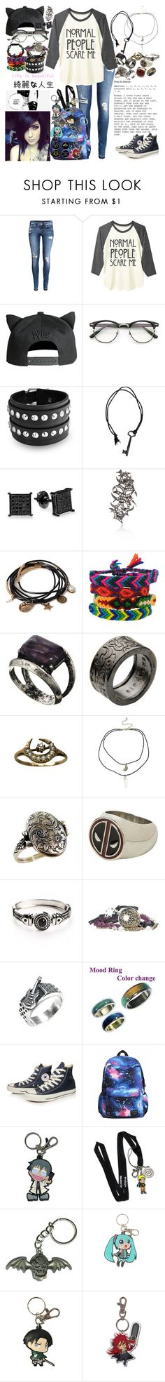 There's no reason to be calm and orderly, blow the whistle of excitement that can't be hidden by rukiakuchiki12341 on Polyvore featuring H&M, Converse, Bling Jewelry, Forever 21, ASOS, John Richmond, River Island, GE, ELSE and Shamballa Jewels