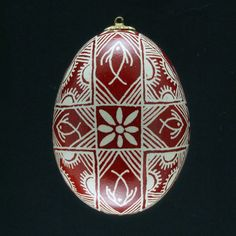 Pysanky Ukrainian Easter Egg Fish Hand by JustEggsquisite on Etsy, $24.00