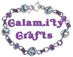 Amethyst Crystal Bead & Rainbow  Coloured Floral by CalamityCrafts