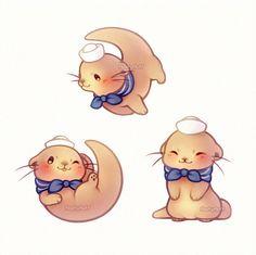 Kawaii sailor otter