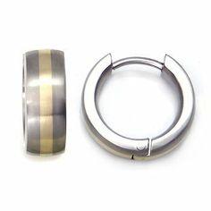 Titanium 14K Gold Inlay Huggie Hoop Earrings $90   Titanium Kay,http://www.amazon.com/dp/B00162NTOA/ref=cm_sw_r_pi_dp_R6SKrb1C39F348B3