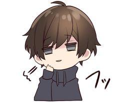 It is a cute sticker of Menhera-kun. Dibujos Anime Chibi, Cute Anime Chibi, Manga Cute, Chica Anime Manga, Kawaii Chibi, Anime Couples Manga, Kawaii Anime, Cute Little Drawings, Cute Drawings