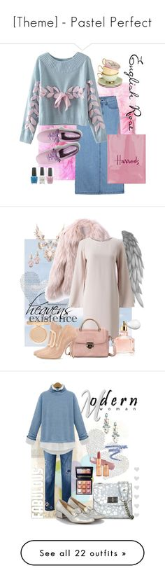 """""""[Theme] - Pastel Perfect"""" by foolsuk ❤ liked on Polyvore featuring Chicnova Fashion, Keds, Harrods, OPI, claire's, Jacques Vert, Guerlain, Balmain, vintage and Skinnydip"""