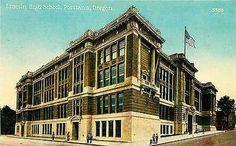 Portland Oregon OR 1912 Lincoln High School Collectible Antique Vintage Postcard
