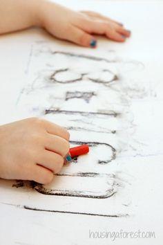 Preschool Transportation activity ~ License Plate Rubbings