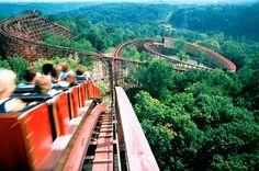 The Beast Roller Coaster at Kings Island. #Cincinnati