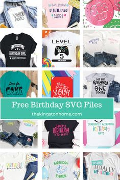 Birthdays are one of my favorite things to celebrate! With our 15 FREE Birthday SVG files you can celebrate any birthday in style.
