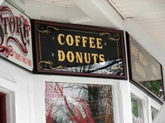 Glass Gilding gold leaf window lettering Gold leafing on glass NYC Bob Gamache Coffee And Donuts, Gold Leaf, Antique Gold, Signage, Leaves, Windows, Lettering, Mirror, Antiques