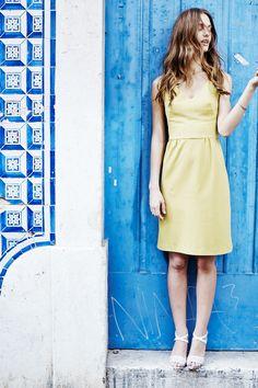 Boden Sarah Ponte Dress in sulphur yellow. http://boden-us.extole.com/v2/share/6157133835438476122