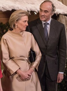 Princes Astrid and Prince Lorenz attend the Christmas Concert at the Royal Palace on December 21, 2016 in Brussels, Belgium.