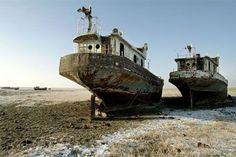 Aral Sea ships.