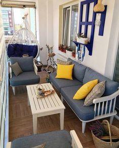Balkon – home accessories Terrasse Design, Balcony Design, Patio Design, Outdoor Furniture Sets, Outdoor Decor, Indoor Outdoor, Decoration Table, Home Accessories, Sweet Home