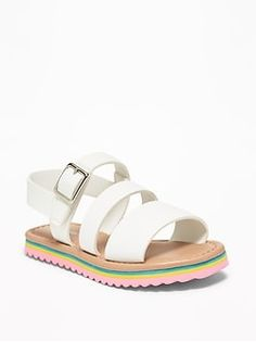 NEW-KIDS SIZES 4-2 GIRLS WHITE-FAUX LEATHER MENORCAN SPANISH SANDALS