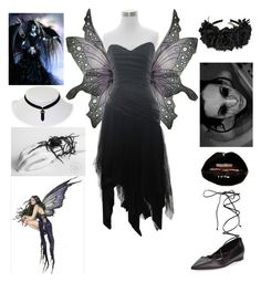 """""""Halloween costume idea #21 (Dark Fairy)"""" by shadow-cheshire ❤ liked on Polyvore featuring Michael Kors"""