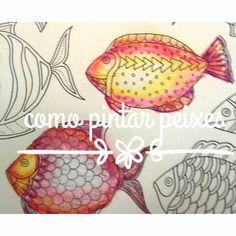 Como pintar peixes oceano perdido/lost ocean