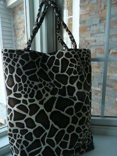 Tote  Zebra by DesignHerStyles on Etsy, $59.00