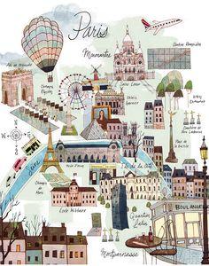 8 x 10 Parigi Mappa