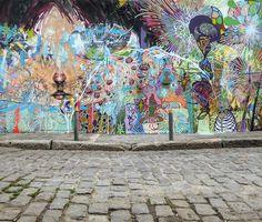 Street art by Herbert Baglione x David Choe in Rio de Janeiro, Brazil for the Igloo Hong art project