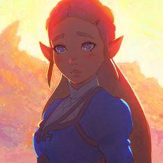 Zelda from latest Legend of Zelda: Breathe of The Wild trailer! ✨ https://www.patreon.com/posts/zelda-7767393