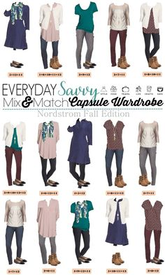 These business casual outfits mix and match for an easy work wardrobe. Here is a new board of Loft Business Casual Outfits. These pieces mix and match for 15 great outfits that wil Mode Ab 50, Nordstrom Jeans, Mix Match Outfits, Casual Outfits, Cute Outfits, Fall Capsule Wardrobe, Fashion Capsule, Business Outfits, Business Casual