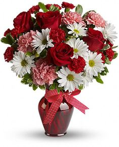 Hugs and Kisses Bouquet with Red Roses  deptula-florist.com