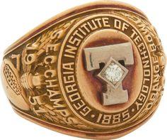 School Rings, Class Ring, Georgia, Tech, Design, Technology