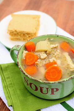 Instant Pot Chicken and Rice Soupa broth based soup with chicken celery carrots and brown rice. This soup reminds me of chicken noodle soup except it has rice instead of noodles. Instant Pot Pressure Cooker, Pressure Cooker Recipes, Pressure Cooking, Slow Cooking, Celery Recipes, Soup Recipes, Chicken Recipes, Dinner Recipes, Chicken Rice Soup
