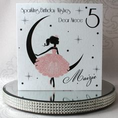 Luxury Handmade Personalised Birthday Card by ChiChiCards on Etsy Luxury Birthday Cards, Kids Birthday Cards, Birthday Numbers, Special Birthday, Birthday Wishes, Personalized Birthday Cards, Handmade Birthday Cards, Cupcake Card, Square Envelopes