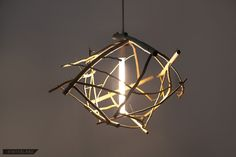 Modern pendant lights crafted from reclaimed and foraged wood. Natural building processes accent the natural material. Pendant Lamp, Pendant Lighting, Chandelier, Scatter Gather, Steel Canopy, Lamp Socket, Natural Building, Light Crafts, Modern Pendant Light