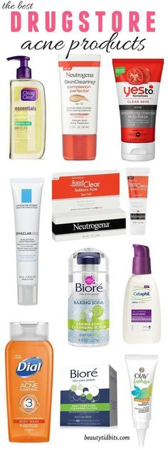 Here are 10 of the best drugstore acne-fighting products that help clear up breakouts while being gentle on your skin and wallet! Click through to get the complete list! (Best Products For Acne) Skin Care Acne, Acne Skin, Acne Prone Skin, Acne Scars, Skin Tips, Skin Care Tips, Best Drugstore Acne Products, Beauty Products, Facial Products