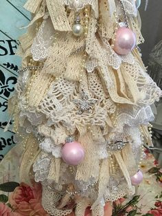 Shabby Chic Christmas Tree Tutorial Part 1                                                                                                                                                                                 More