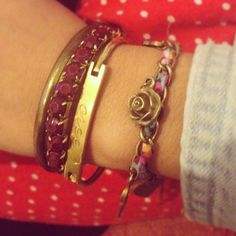 #Bracelets are always a good option to make an outfit look interesting!