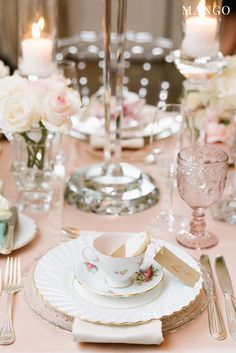 #romantic #wedding #reception #inspiration #tea #ceremony #china #pink and #white #blush