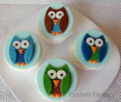 Boy Owl Cupcake Toppers by FondantFantasy on Etsy, $20.00