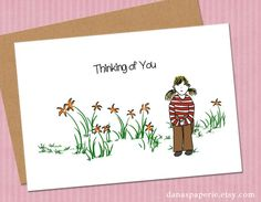 Thinking of You Card by Danaspaperie