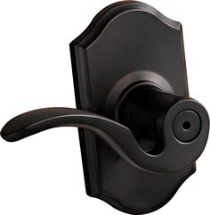 Brooklane Iron Black Privacy Lever