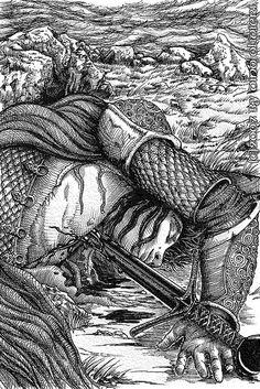 La Morte di Turin - Turin's Death - Ainur - The Children of Húrin - (based on J.R.R.Tolkien book) © by Dino Olivieri by dino_olivieri, via Flickr