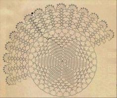 Home Decor Crochet Patterns Part 136 - Beautiful Crochet Patterns and Knitting Patterns Crochet Doily Diagram, Crochet Diy, Crochet Mandala, Crochet Home, Thread Crochet, Filet Crochet, Crochet Motif, Doily Patterns, Knitting Patterns